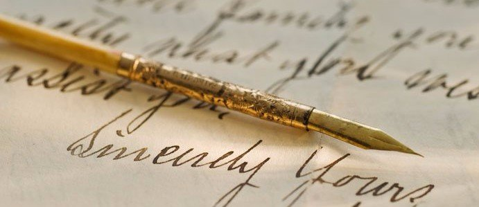 Quill used for writing with ink