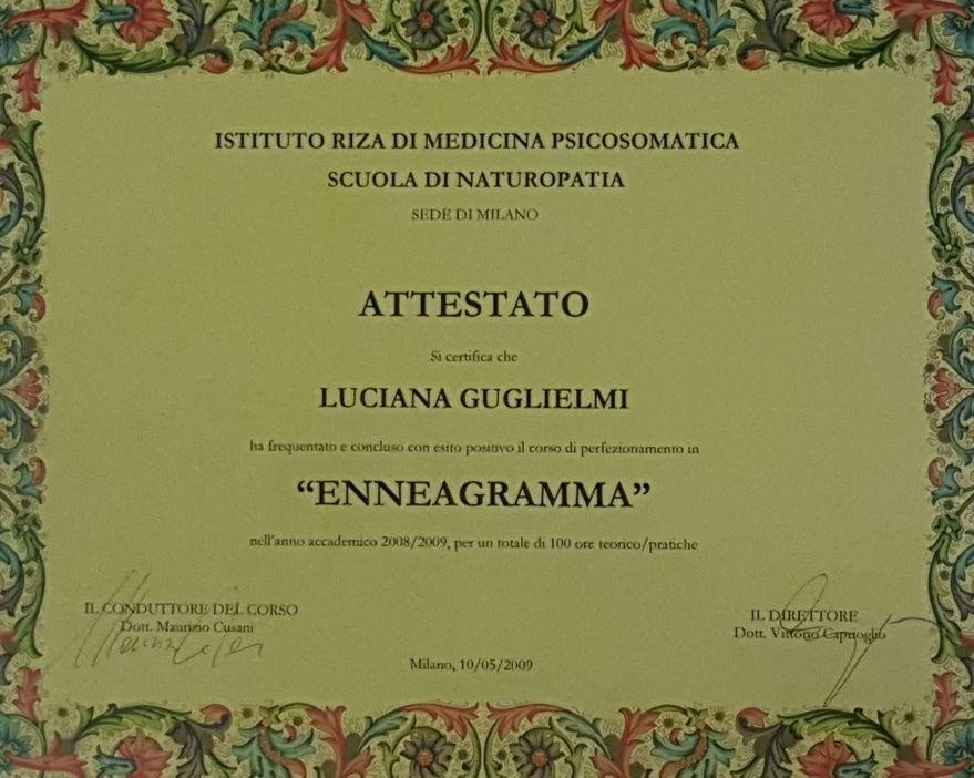 attestato enneagramma