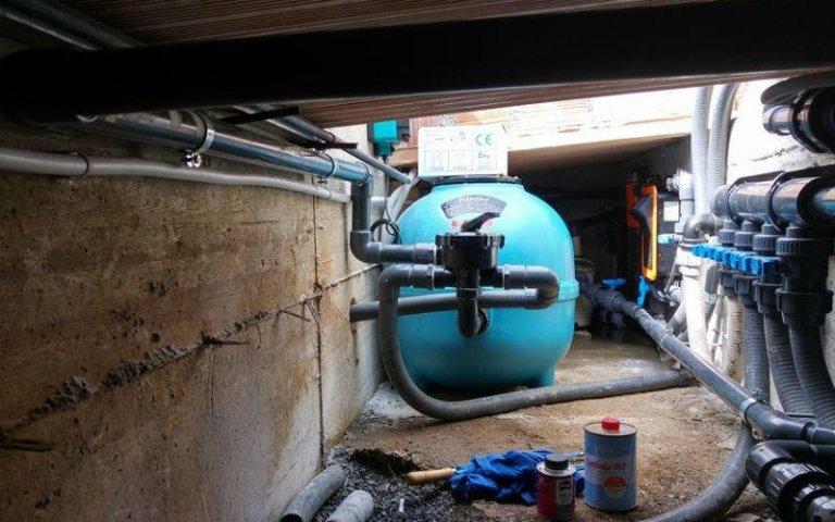impianto idraulico piscina
