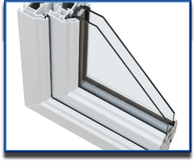 An example showing PVC double glazing