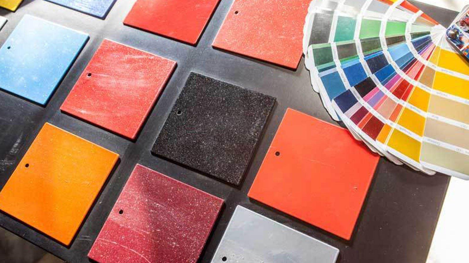 dei campioni di colori