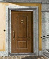 porta da esterno marrone chiaro