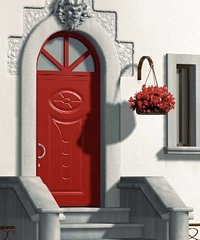 porta da esterno rossa