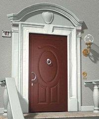 porta da esterno marrone