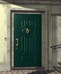 porta da esterno verde scuro