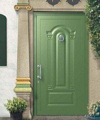 porta da esterno verde chiara
