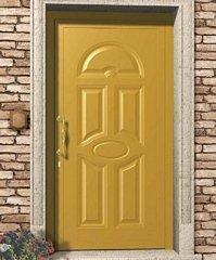 porta blindata gialla