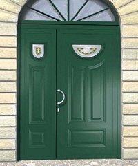 porta da esterno verde doppia