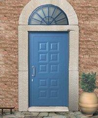 porta da esterno azzurra