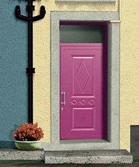 porta da esterno rosa