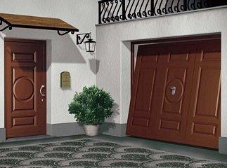 porta e garage da esterni color marrone