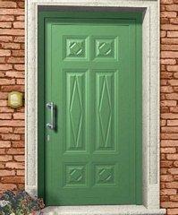 porta da esterno verde chiaro