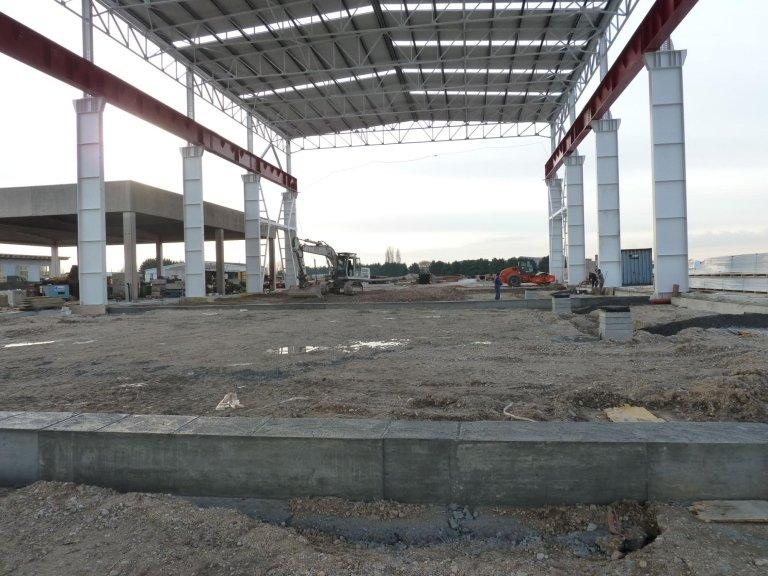 costruzione capannone industriale