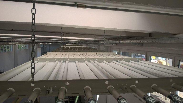 impianto di riscaldamento industriale a termostrisce