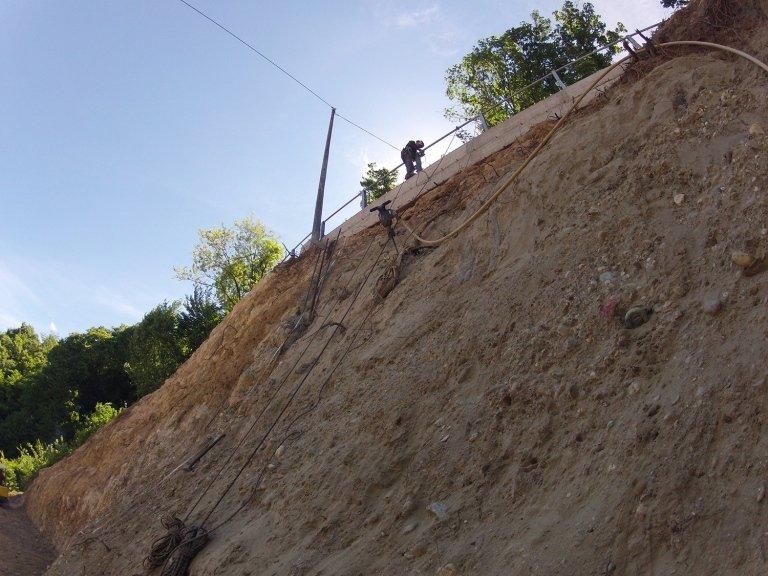 Un muro di terra