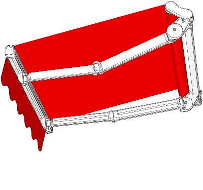Icona di tenda a braccio