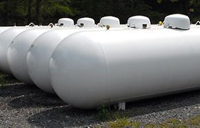 Propane gas service tanks at Owens Energy at Show Low, AZ