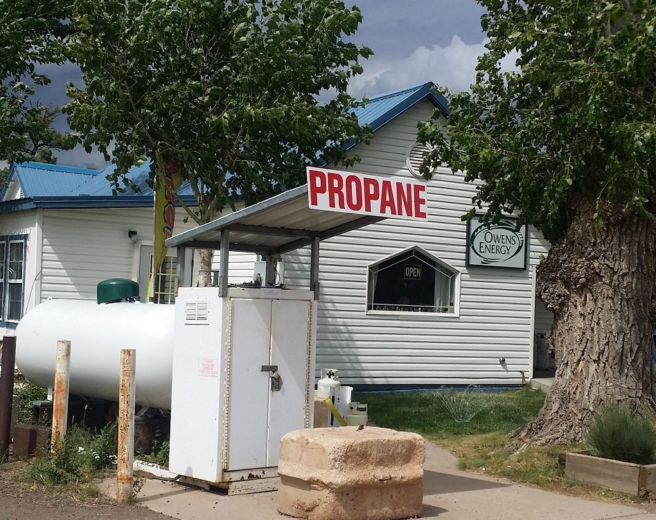 Propane tanks in row at  Owens Energy at Show Low, AZ