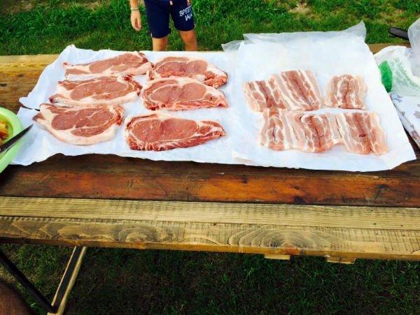 delle fette di carne