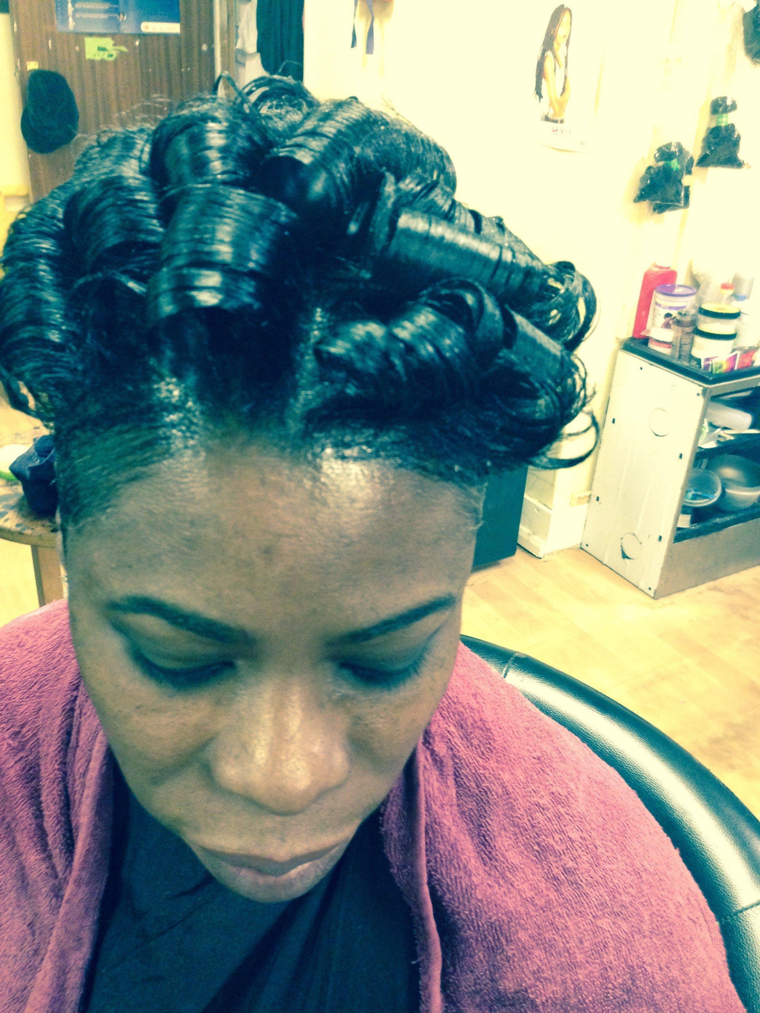 Stylish hairdo