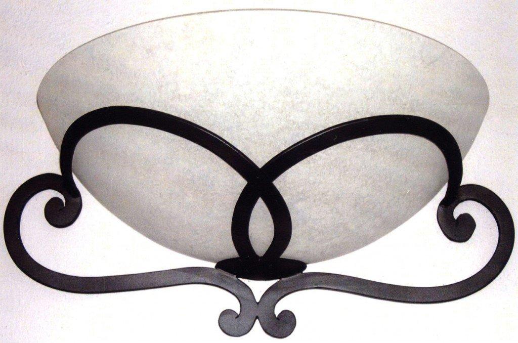 portalampada in ferro stile moderno