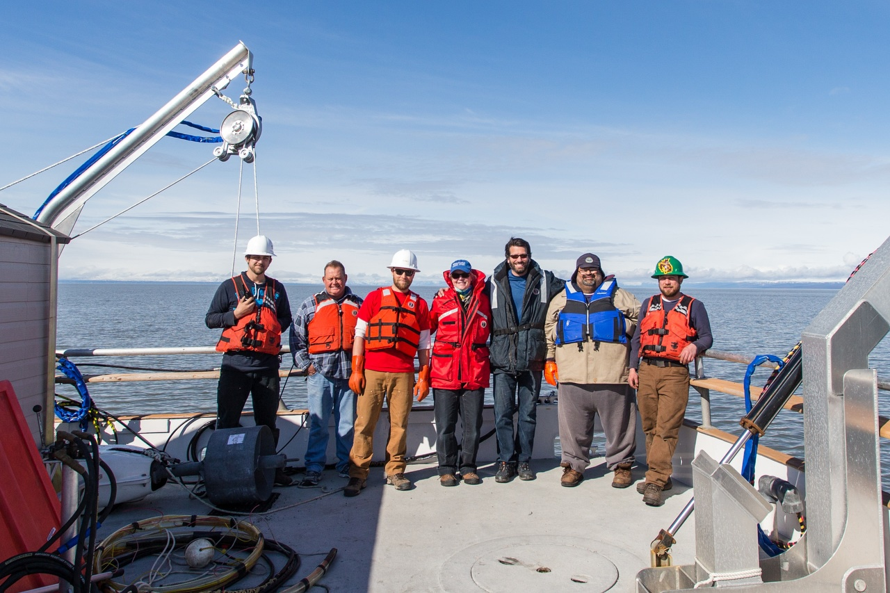 Image of Glenn, Dave and the Subsea Deployment team providing offshore geophysical and seafloor mapping services in Alaska