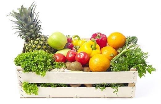 cesto di frutta e verdura