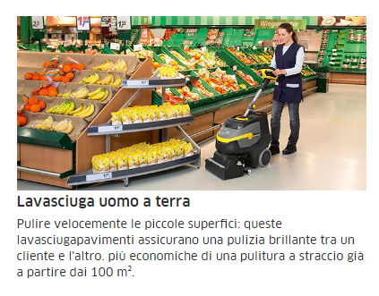una donna con una lavasciuga in un supermercato