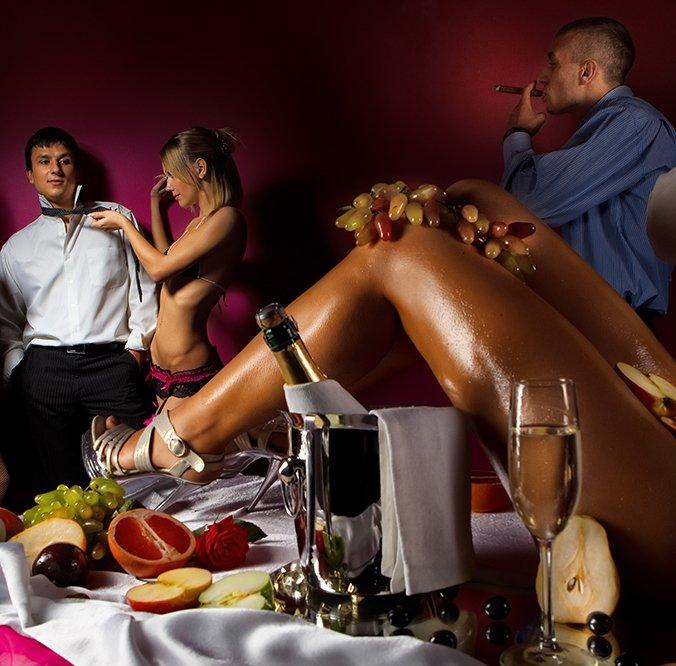 People enjoying bachelor party