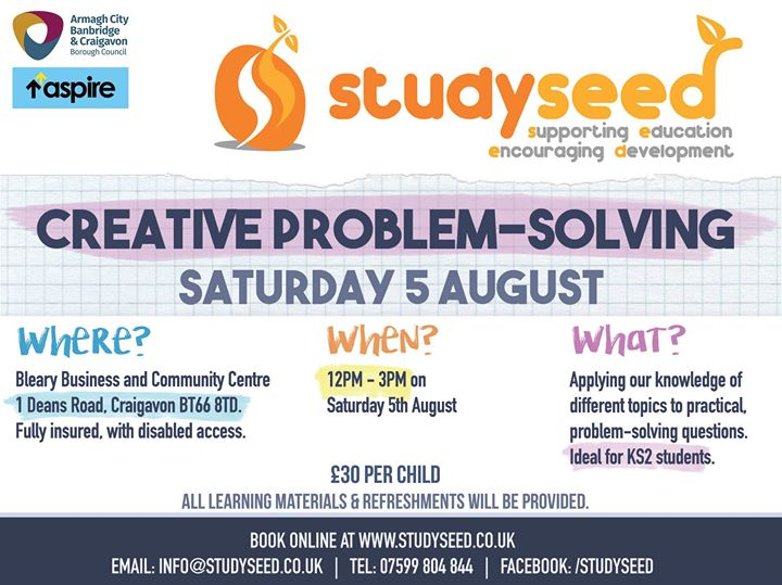 Saturday 5th August - Creative Problem Solving - Summer
