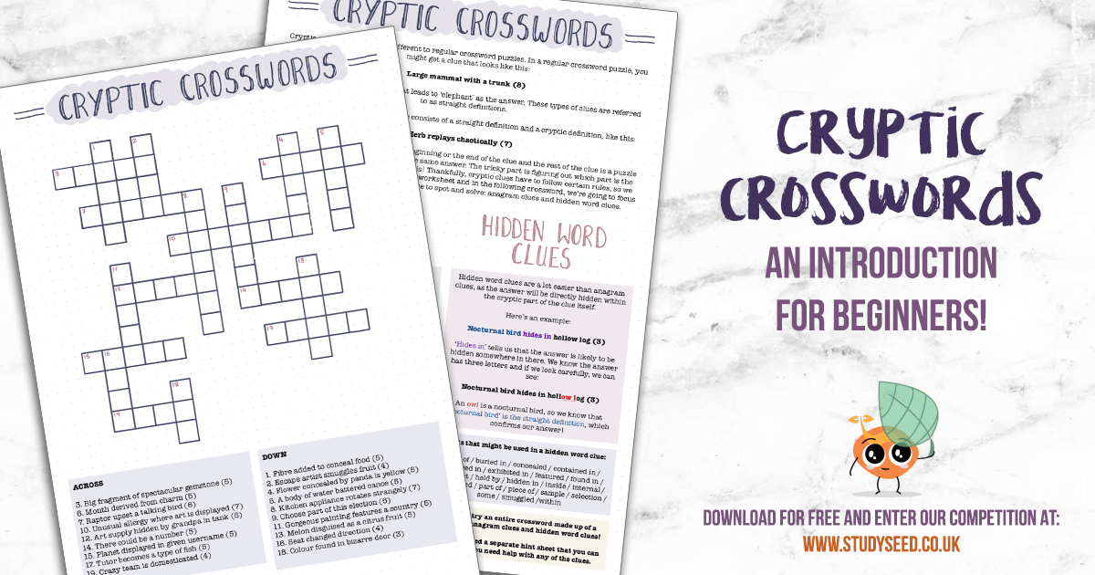 Cryptic Crosswords For Children And Beginners