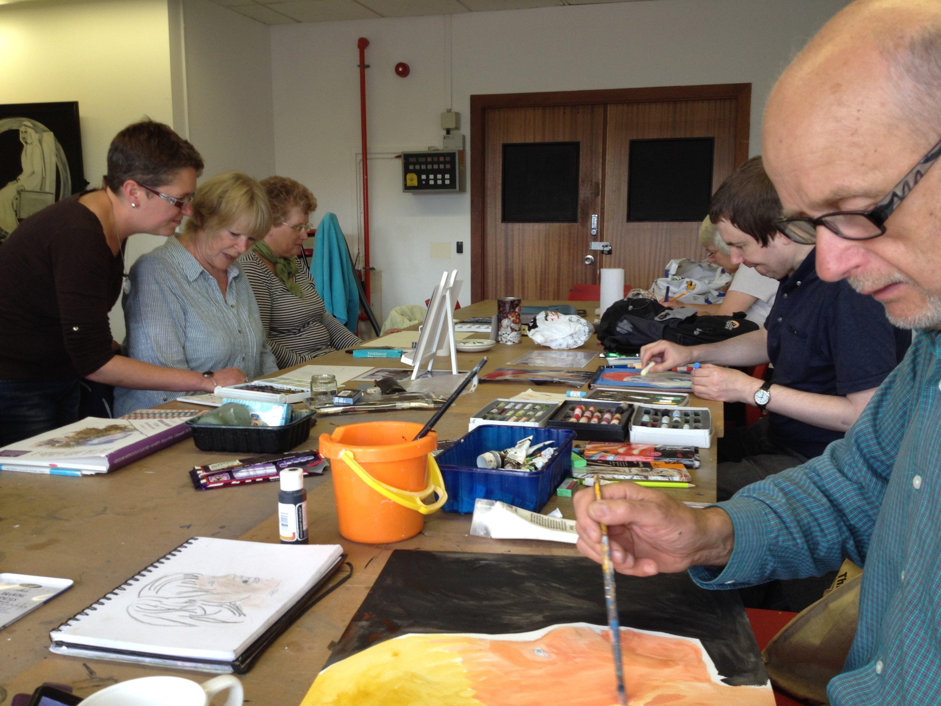 Explore lifelong learning 2016 art workshop tutor Cecilia Holmes adult education