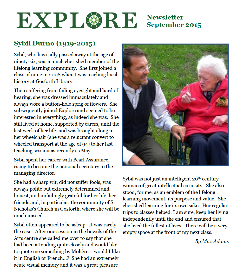 Explore lifelong learning 2016 newsletter adult education