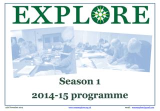 Explore lifelong learning Season 1 programme 2014-15 adult education