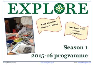 Explore lifelong learning Season 1 2015-16 adult education