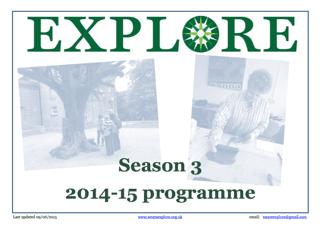 Explore lifelong learning Season 3 2014-15 adult education