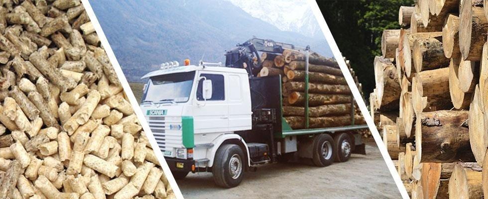 Consegna a domicilio di legna da ardere e pellet