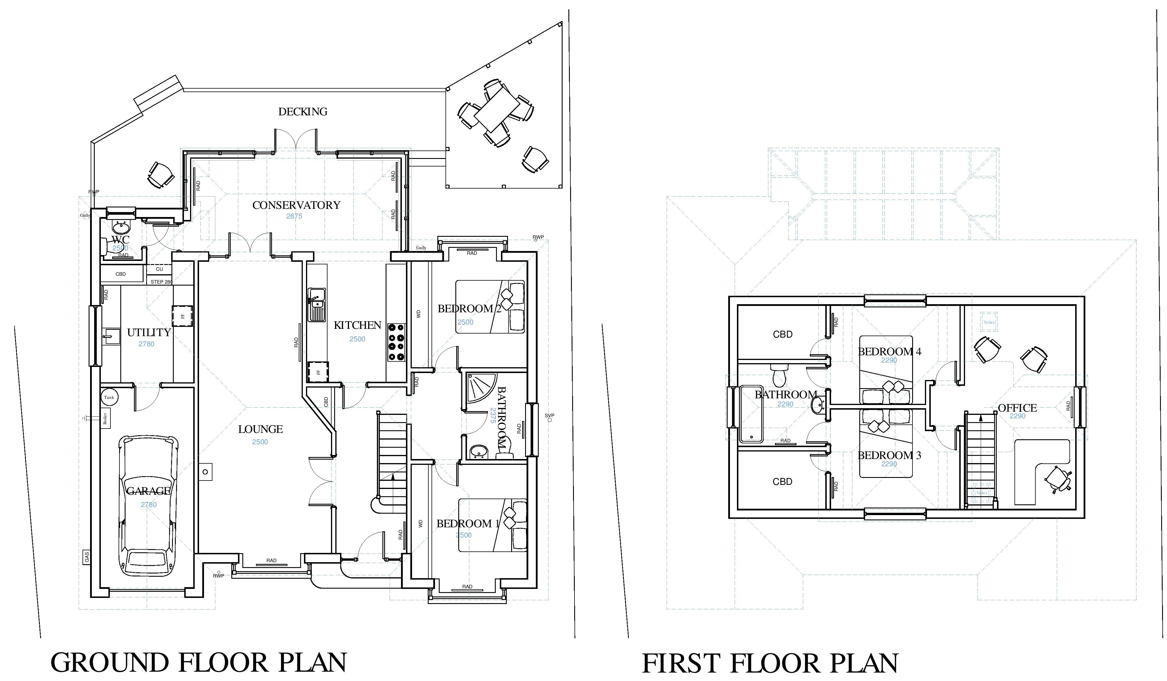 Looking to design a house extension in kent for Existing house plans