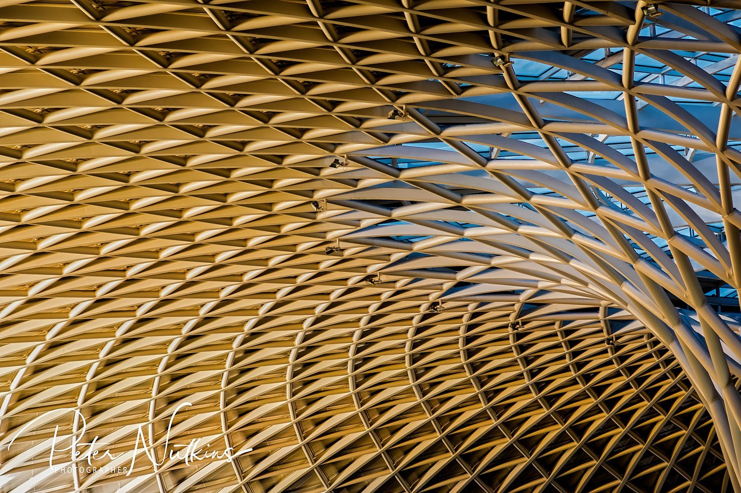 The roof of King's Cross Station in London