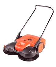 battery powered Haaga sweeper