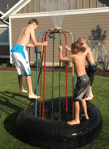 Large Jumparoo With Water Sprinkler