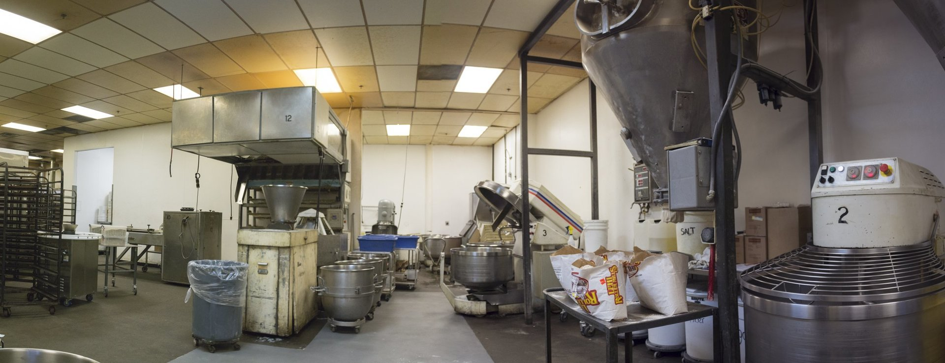 Oasis Breads mixing room of oasis bakery
