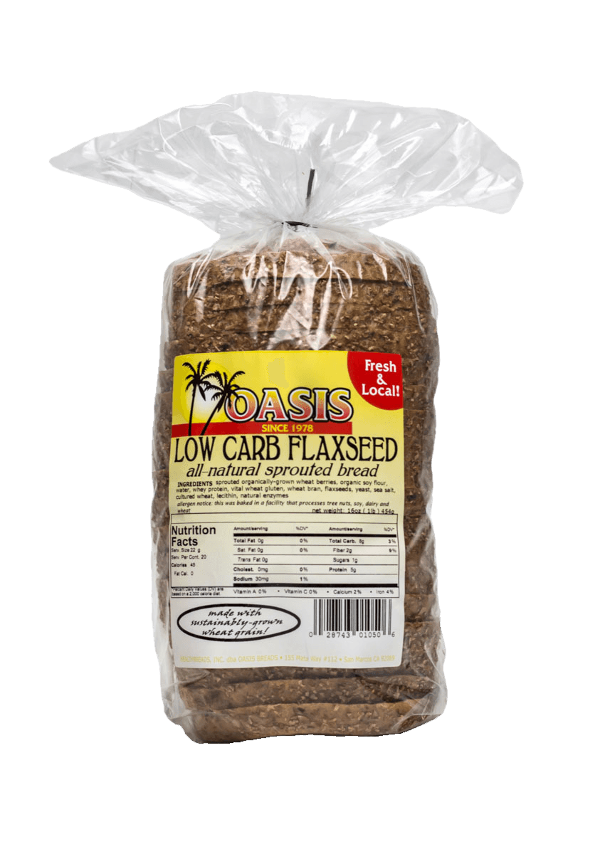 oasis low carb flaxseed bread
