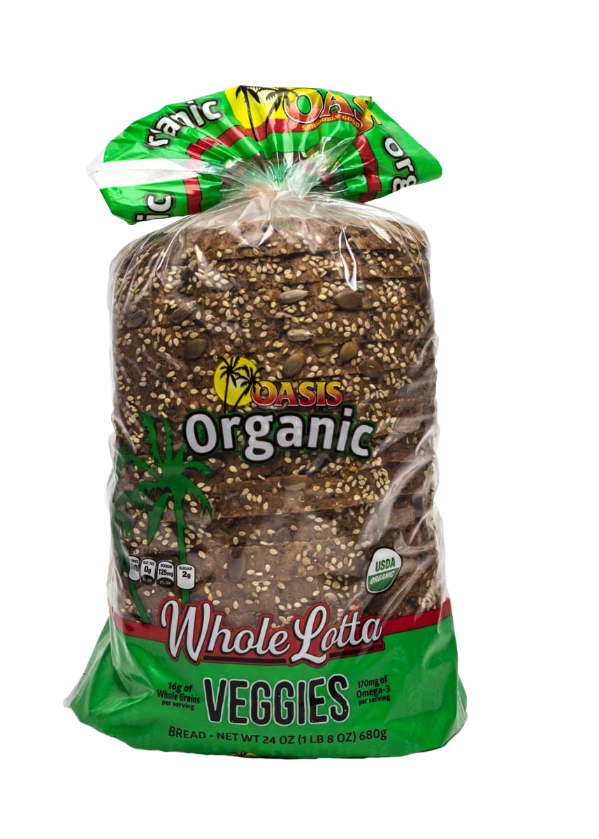 oasis whole lotta veggies bread