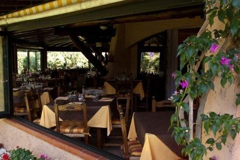 ristorante nel verde