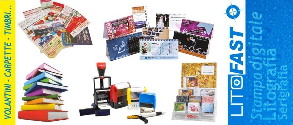 Calendari, timbri e materiale d'ufficio personalizzato