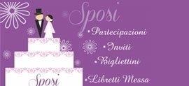 Immagine che riassume il servizio tipografico speciale per gli sposi