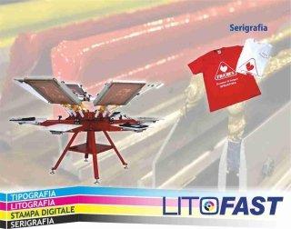 Magliette e articoli stampati con la tecnica della serigrafia
