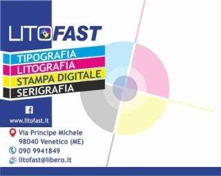 Biglietto da visita e contatti della tipografia Litofast