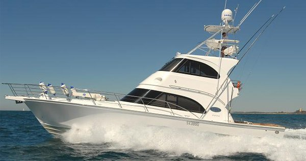 A boat used for our game fishing charters on the Sunshine Coast